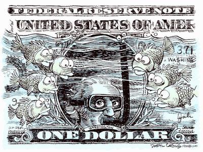 Bush a bagat dolarul la apa