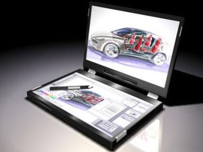 Laptop cu doua ecrane