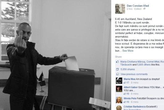 """Mesajul primului român care a votat în străinătate, scris cu """"disperarea emigrantului"""""""