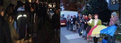 """""""FIŢI EROI ÎN TURUL DOI!"""". Imagini cu cozile uriaşe din străinătate. Proteste la Paris. UPDATE: Prezenţă MARE la urne până la ora 10:00"""