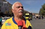 """Caravana """"VREAU PREŞEDINTE"""". Cererea unui clujean pentru viitorul preşedinte: """"Să fie România Mare, cum o fost pe timpul regelui Mihai"""""""
