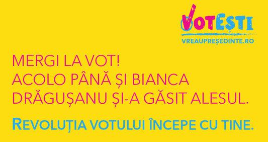 Mergi la vot! Acolo, până şi Bianca Drăguşanu şi-a găsit alesul