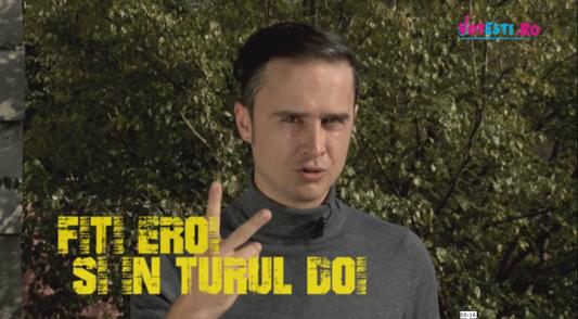 Şerban Copoţ susţine VOTEŞTI. Fiţi eroi în turul doi!