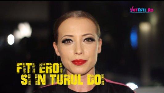 """Adriana Rusu susţine VOTEŞTI. """"România e a noastră. E timpul să ne-o luăm înapoi!"""""""