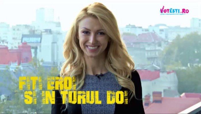 Andreea Bălan susţine VOTEŞTI.