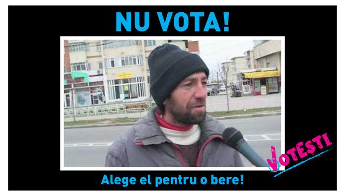 Nu vota! Alege el pentru o bere!