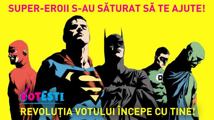 Super-eroii s-au săturat să te ajute!