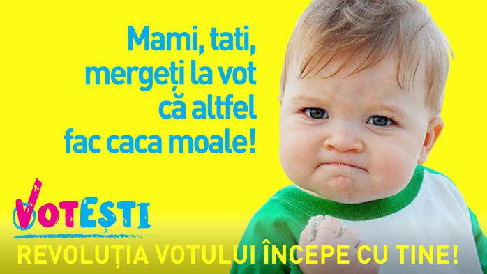 Mami, tati, mergeţi la vot că altfel ...