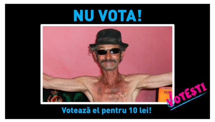 Nu vota! votează el pentru 10 lei!