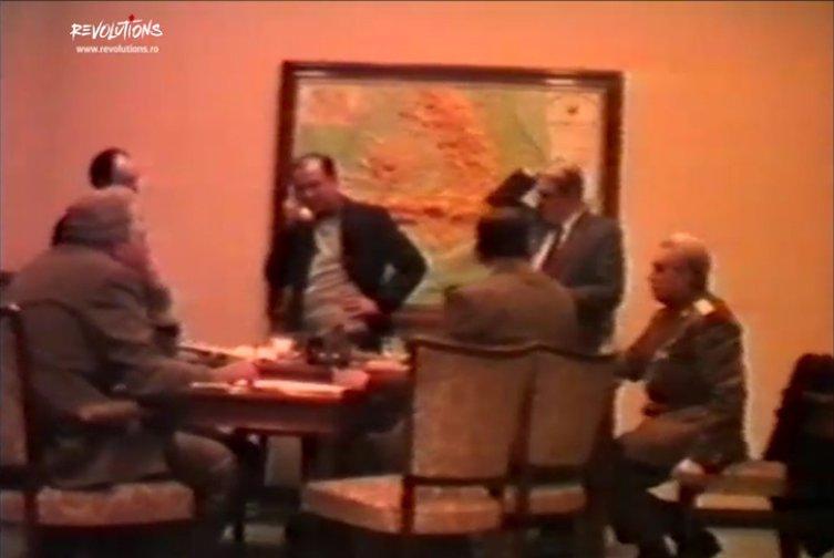 EXCLUSIV. Imagini video în premieră din momentul constituirii Consiliului Frontului Salvării Naţionale, în 22 decembrie 1989