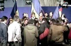 Mircea Dinescu anunţă fuga lui Ceauşescu