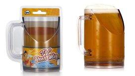 Halba de bere care nu obturează câmpul vizual atunci când bei şi te uiţi la meci