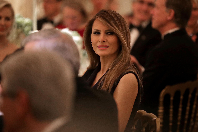 Melania Trump, onorată cu vinul