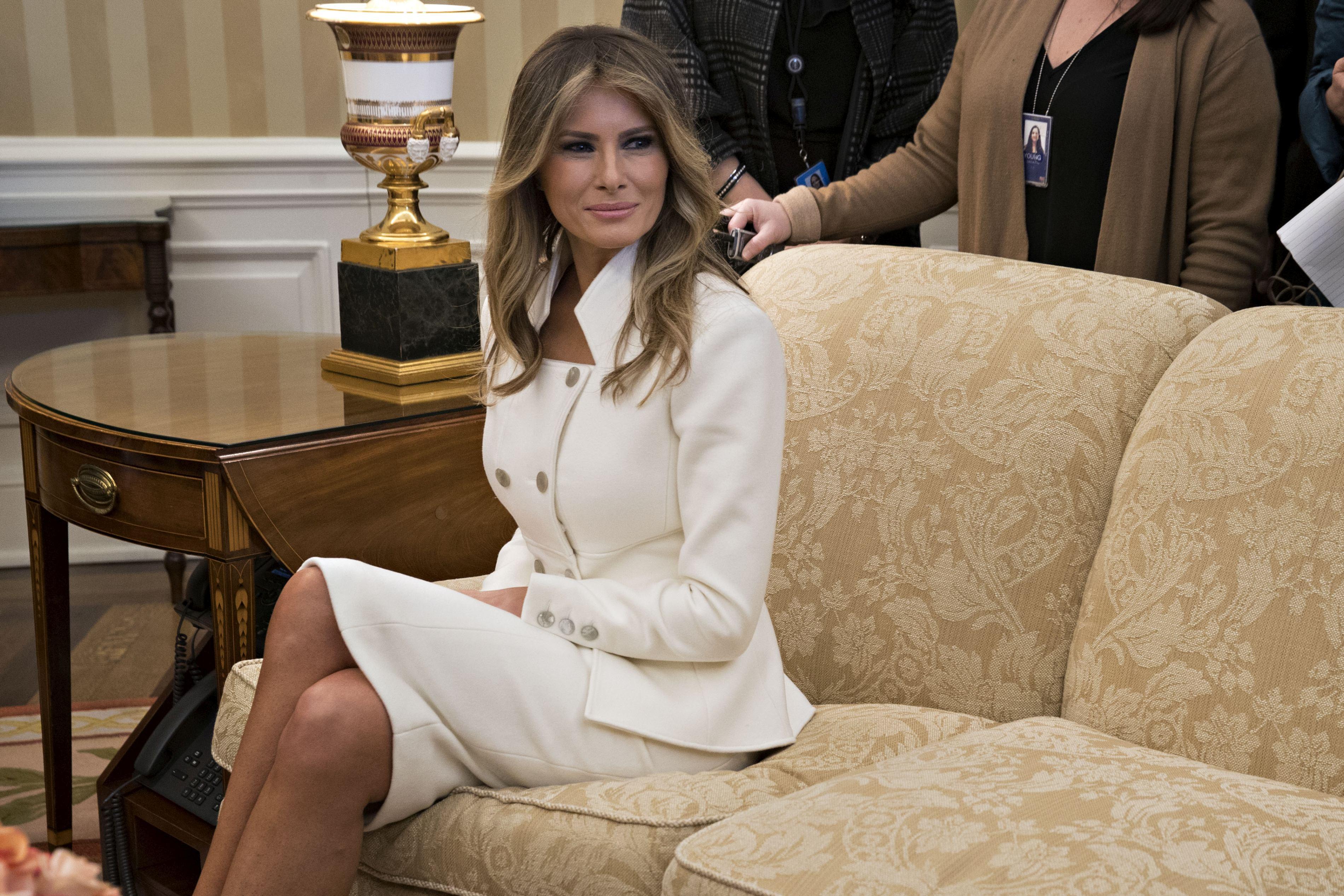 La masă cu Melania Trump