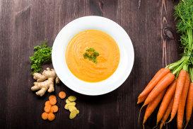 Supă cremă de morcovi cu ghimbir