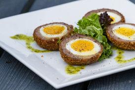 Ouă scoţiene, o reţetă de la 1738
