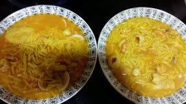 Supă tradiţională cu fructe de mare din Tomelloso