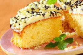 Prăjitură cu cremă de unt şi lămâie