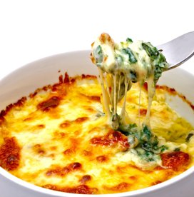 Spanac cu brânză, la cuptor