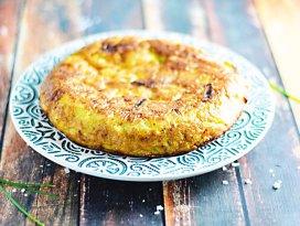 Tortilla spaniolă cu cartofi