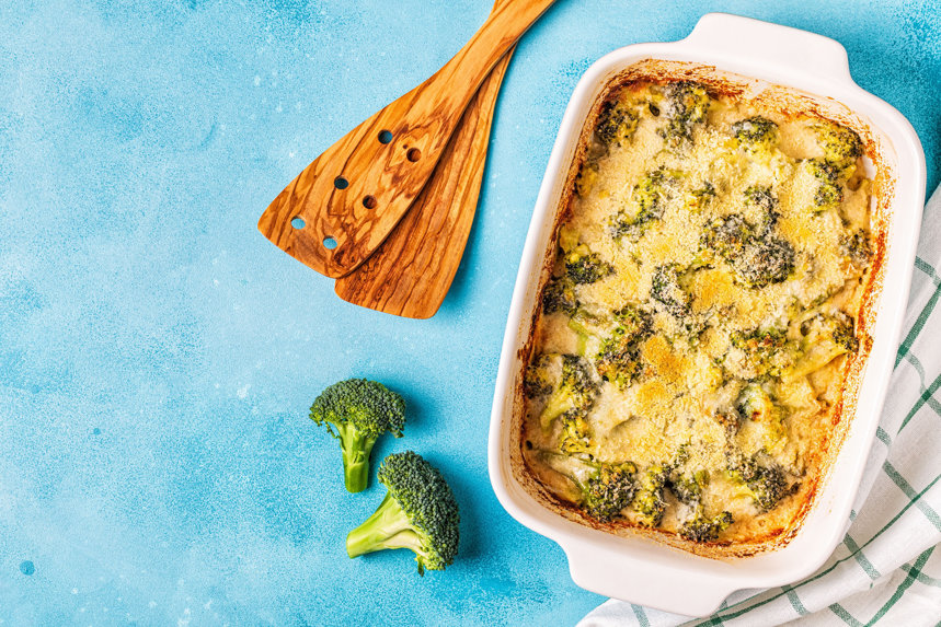 Broccoli gratinat, o reţetă low-carb, favorită în dietele keto sau Atkins