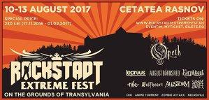 Noi confirmări pentru Rockstadt Extreme Fest 2017
