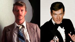 Cum s-a ascuns David Bowie sub masă să nu-l găsească Roger Moore