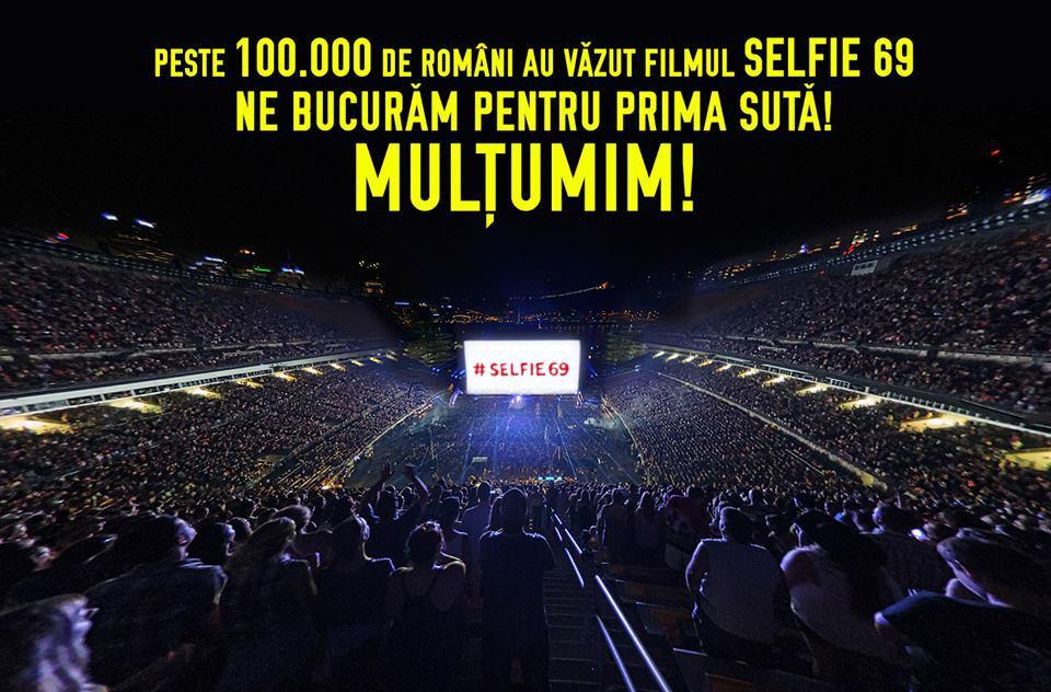 #Selfie69 - peste 100.000 de spectatori în cinematografe, în trei săptămâni