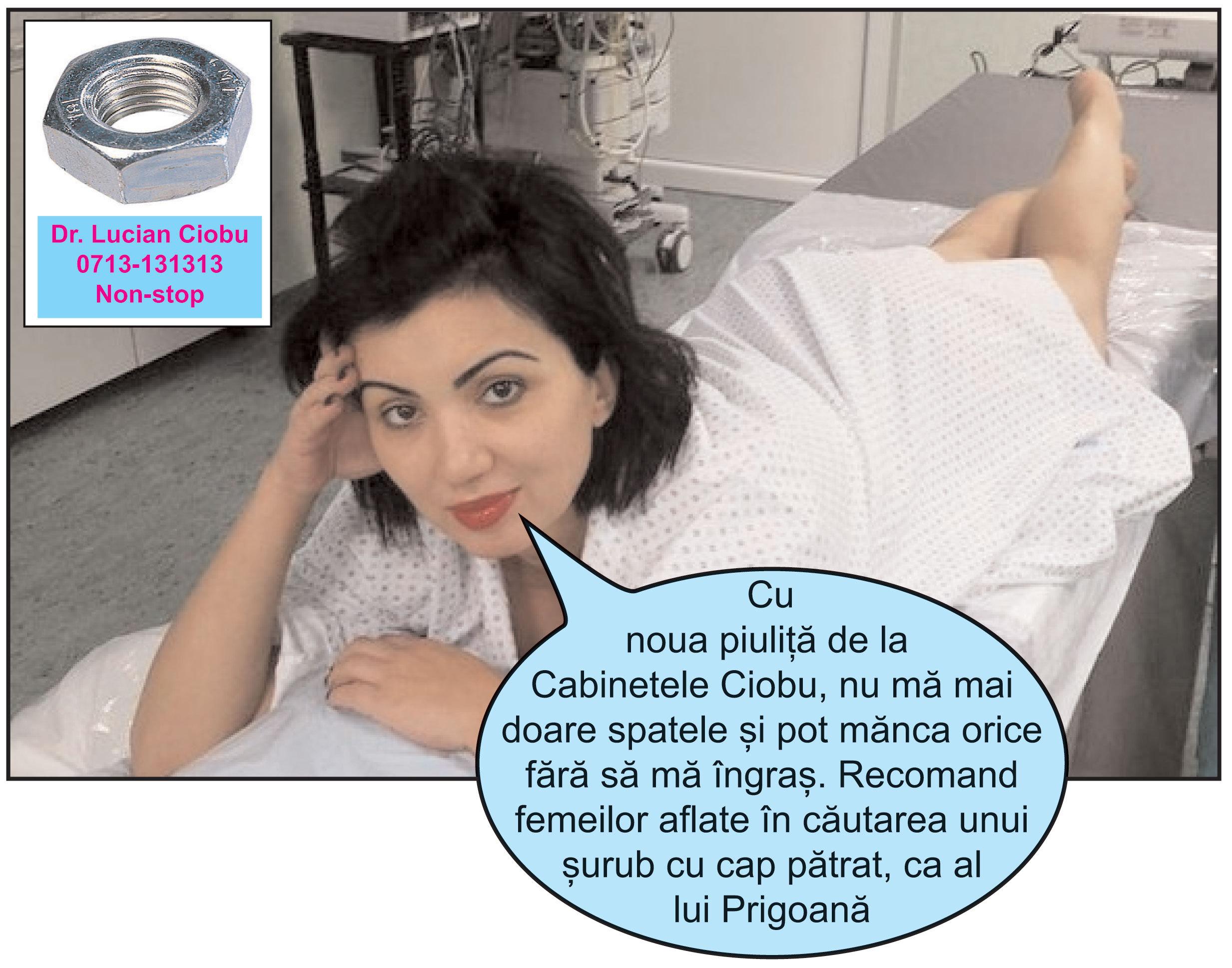 După operaţia de rejuvenare vaginală, A. Bahmuţeanu s-a apucat de reclame