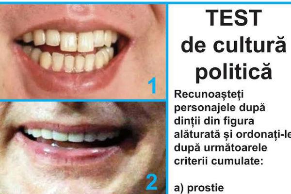 Test despre cultură politikă lacare eu am răspuns din prima