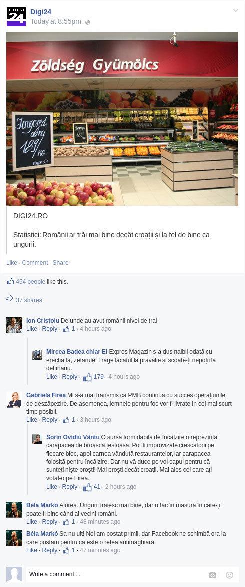 BOMBĂ! Gabriela Vrâncioaia Firea si S.O. Vântu a postat pe pagina de Facebook a lui Digi24