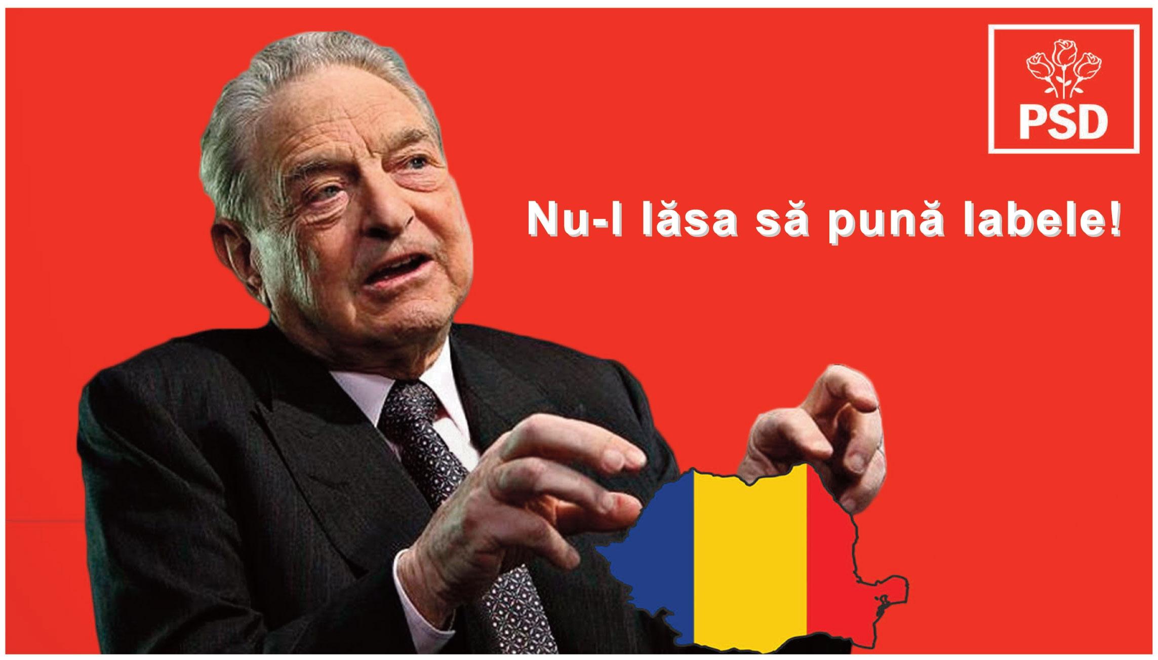 După modelul Orban, PSD a pregătit în secret afişe anti-Soros. Vezi cum arată