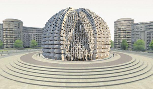 Propuneri de monument al Marii Unirii: Să se facă monumentul ca cum ar fi un mic mare, sau chiar trei mici pe un carton, care să se pună statuia micilor lângă cartoful înfipt în ţepuşa aia din Piaşa Palatului