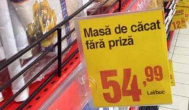 Gafe virale ale supermarketurilor din România!