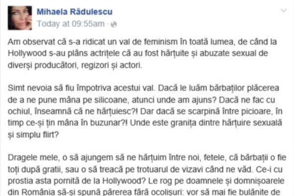Bombă! Ce a postat Mihaela Rădulescu pe Facebook şi ce i-a răspuns Dragnea!