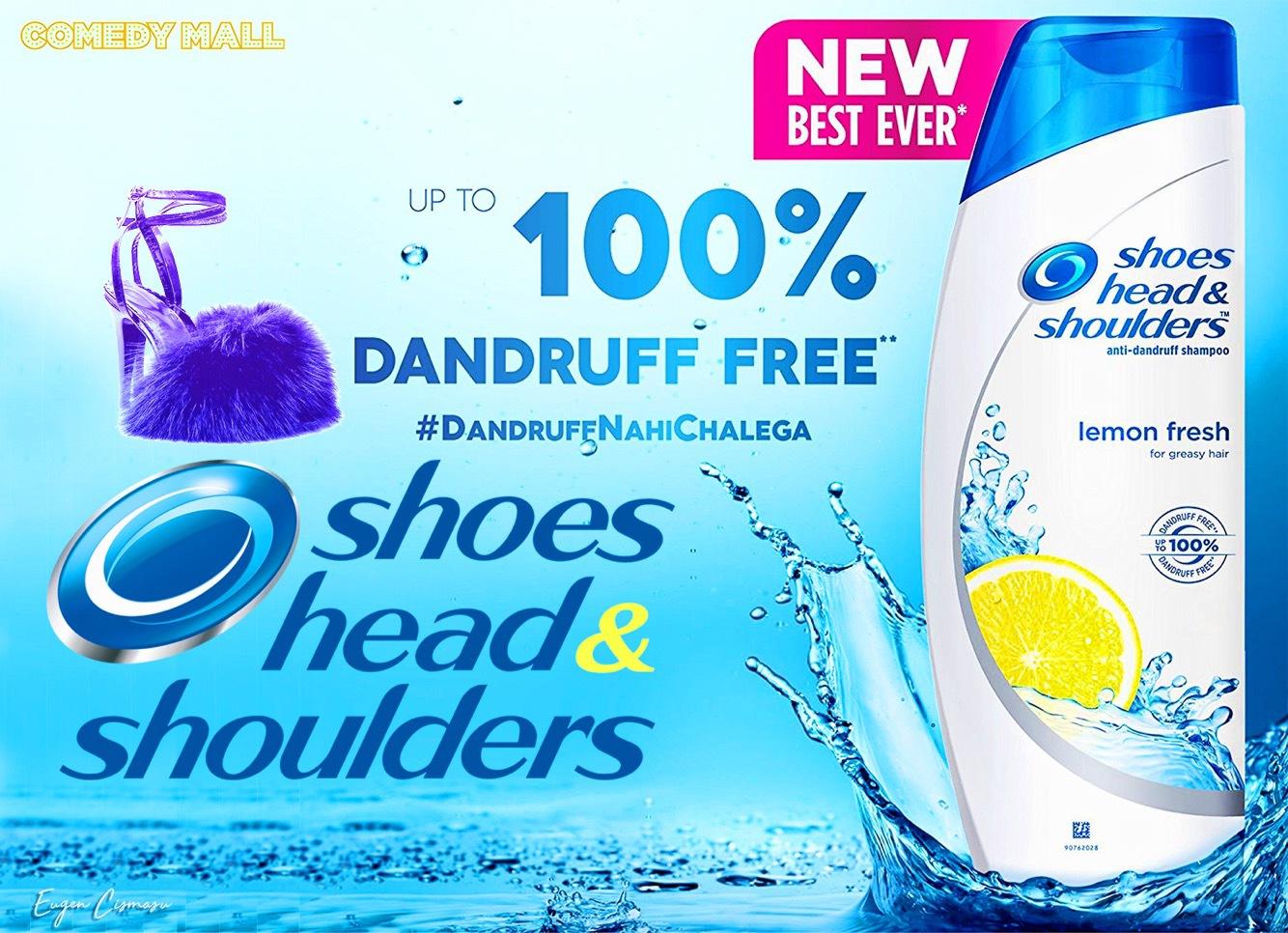 """Cozi interminabile la Mall: """"Head & Shoulders"""" a lansat primul şampon antimătreaţă pentru papucii cu blană de pe Dorobanţi"""