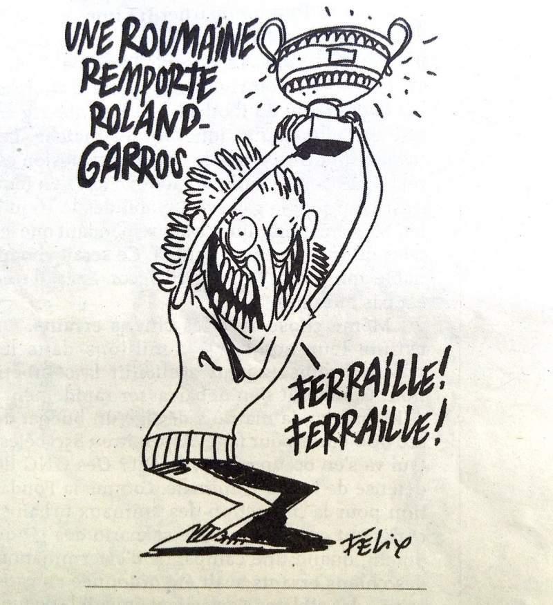 Simona Halep, pe coperta revistei Charlie Hebdo