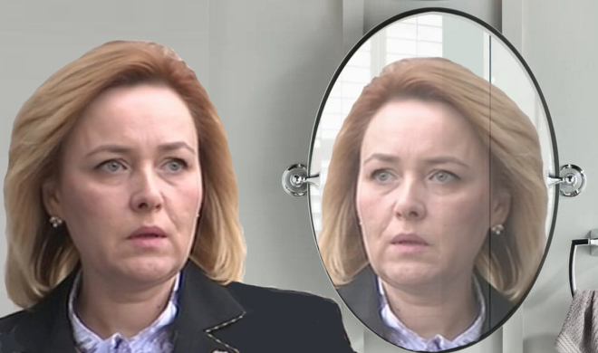 Carmen Dan a sunat la 112 că o urmăreşte cineva din oglinda din baie!