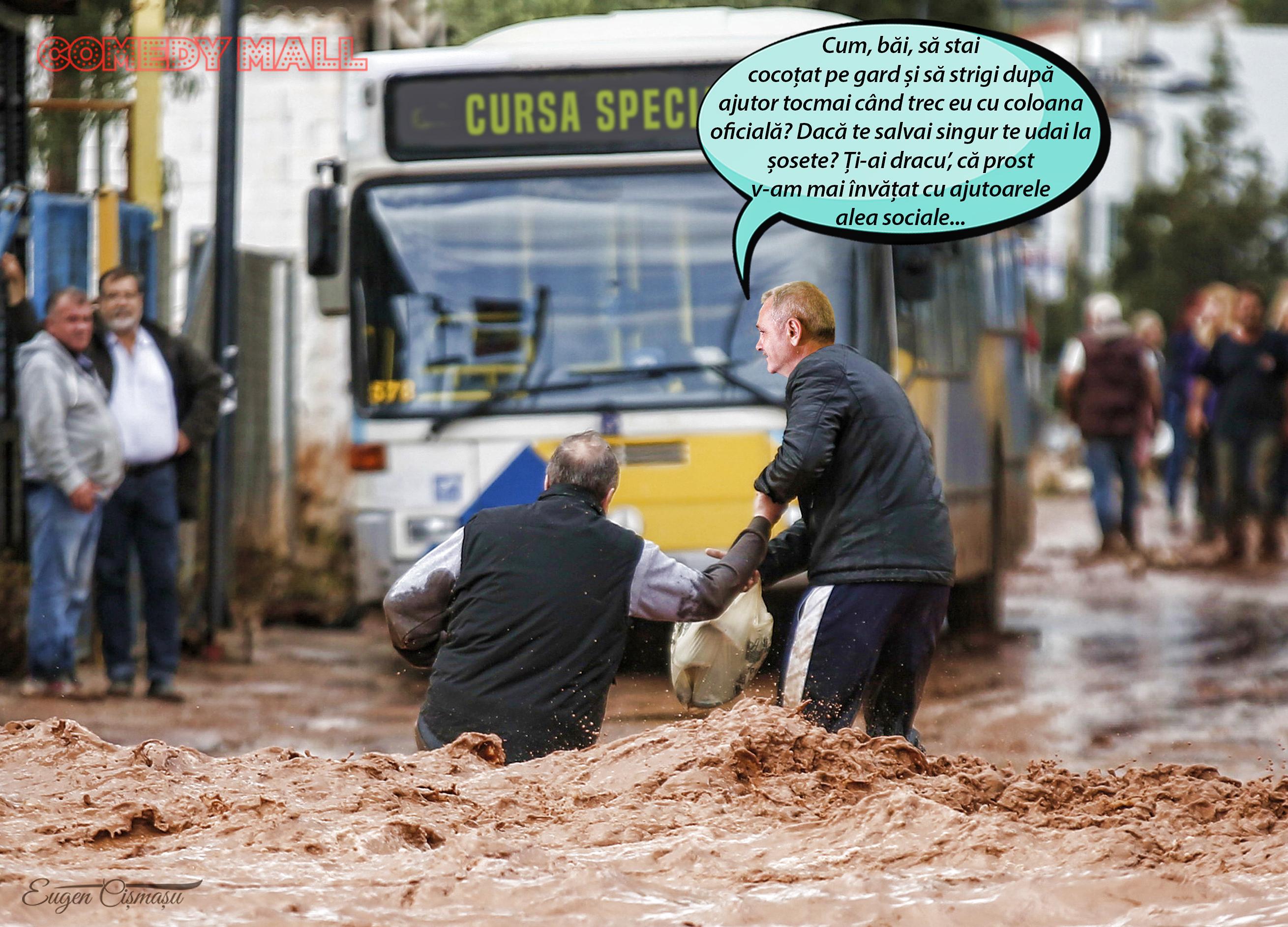 Zdragnea sprijin la inundaţii