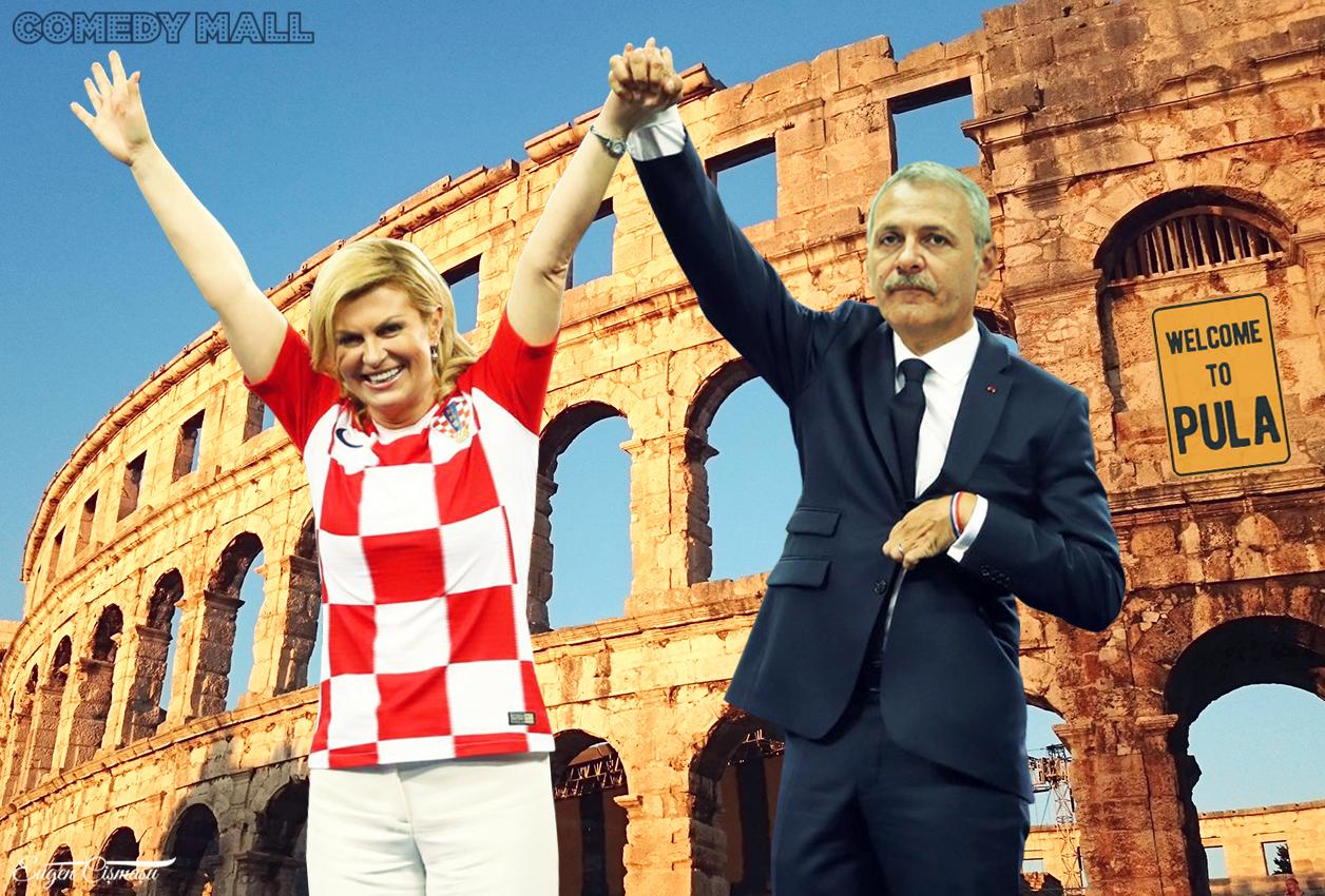 Liviu Dragnea a fost invitat în Pula de preşedinta Croatiei!