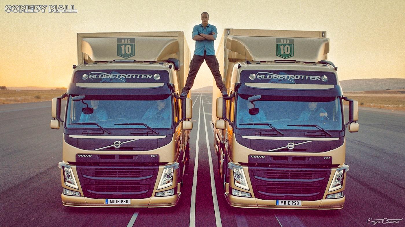 Alertă! Van Damme vine pe 10 august, în Piaţa Victoriei, pe două TIR-uri înmatriculate în Belgia!