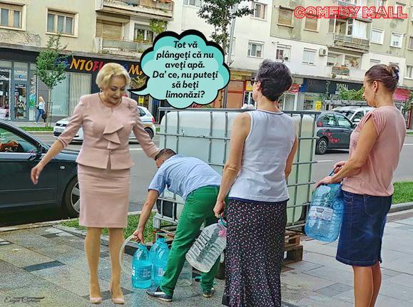 Dăncilă a rezolvat criza apei la Bacău