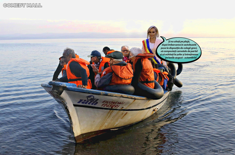 All-inclusive: 1000 de pensionari PSD trimişi de Firea în Grecia pe banii statului!