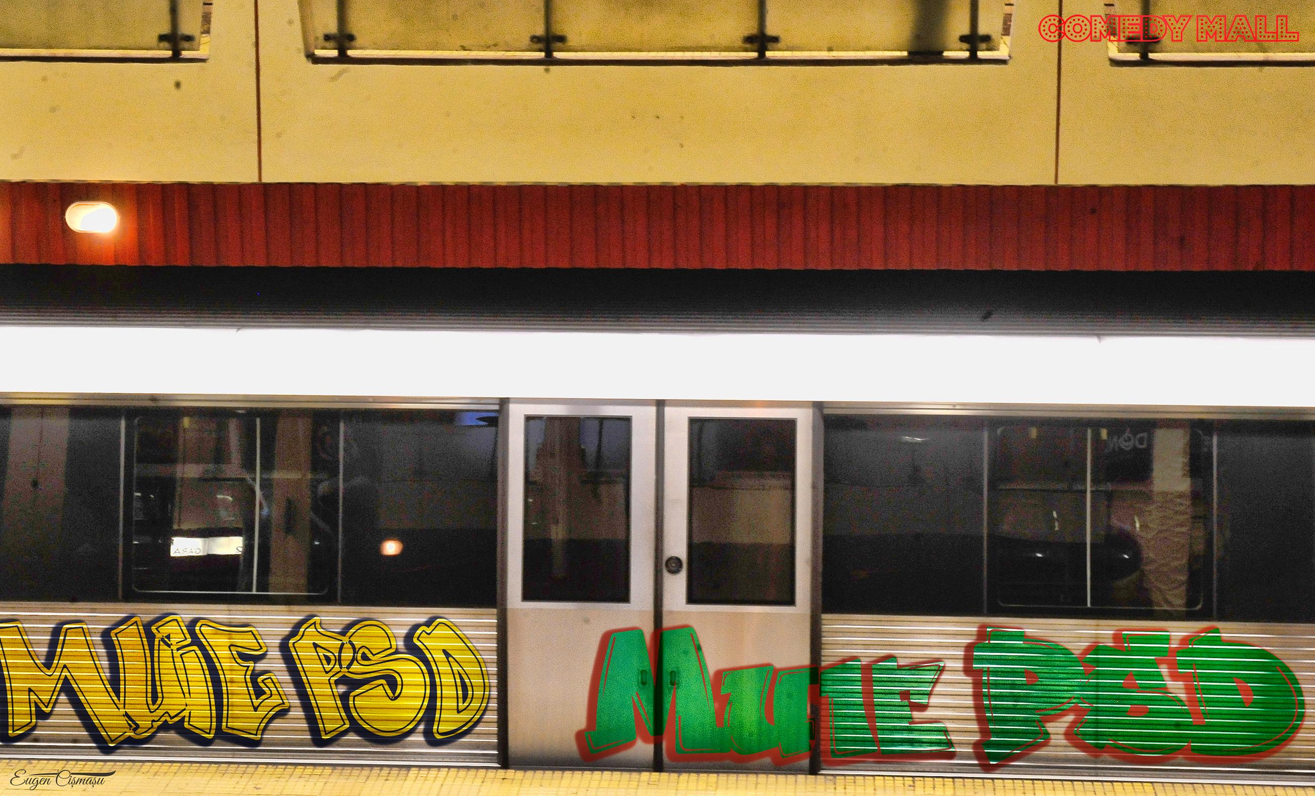 E oficial! Firea retrage la depou garniturile de metrou vopsite cu graffiti anti PSD!