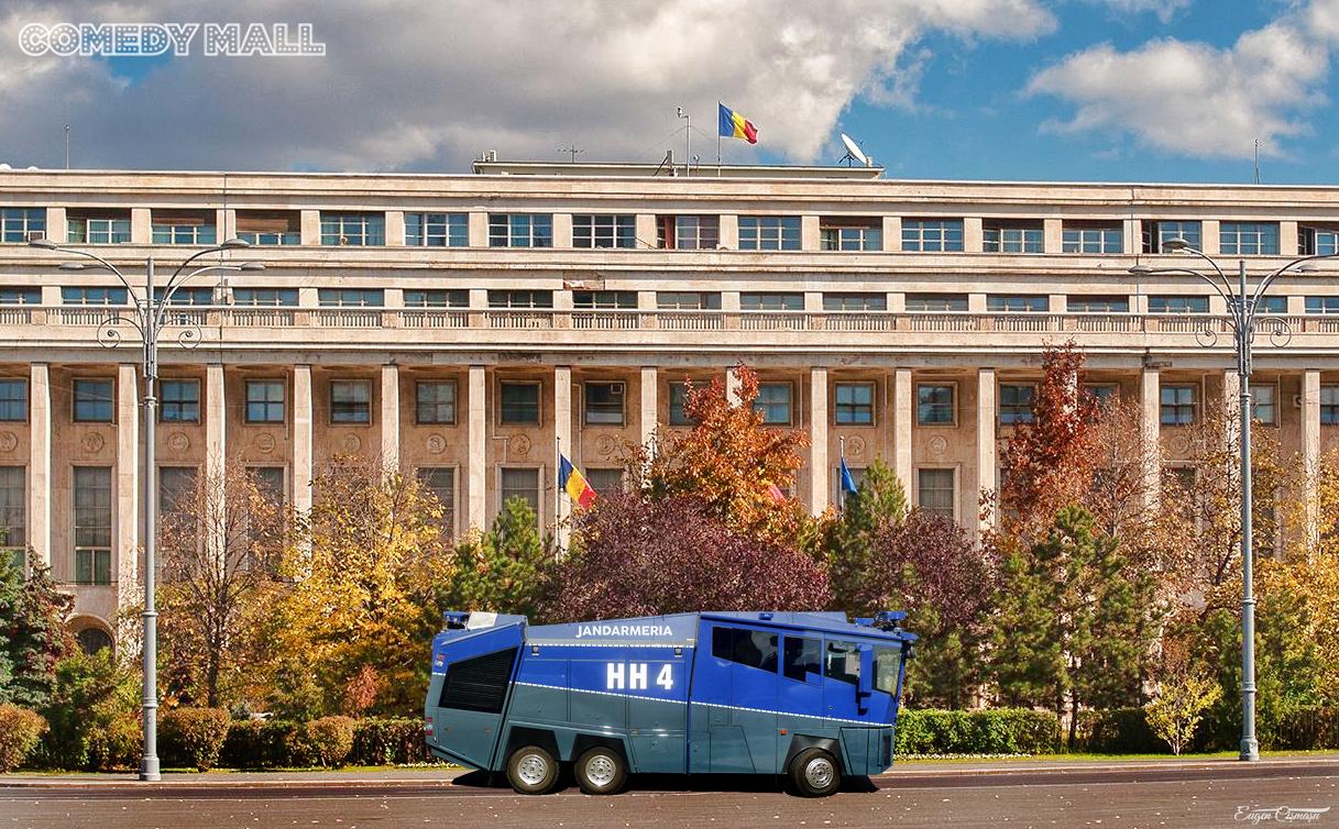 """Dăncilă, cu tupeu: """"Am cerut Jandarmeriei să aibă în vedere hidramarea optimă a protestatarilor din Piaţa Victoriei"""""""