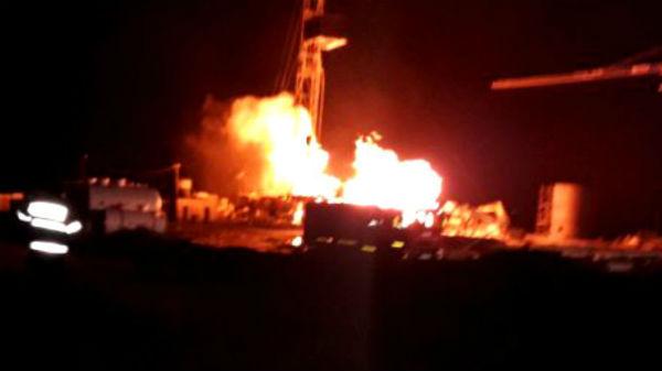 Incendiu uriaş la o sondă de gaz din Satu Mare