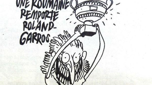 """Simona Halep, ironizată de revista franceză Charlie Hebdo: """"Fier vechi, fier vechi"""""""