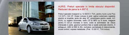 Toyota Auris - oferta aprilie 2009