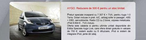 Toyota Aygo - oferta aprilie 2009