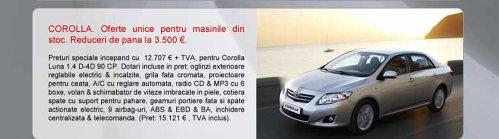 Toyota Corolla - oferta aprilie 2009